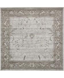 Aldrose Ald4 Light Gray 8' x 8' Square Area Rug