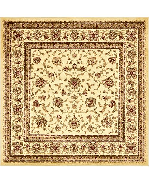 Bridgeport Home Passage Psg4 Ivory 8' x 8' Square Area Rug