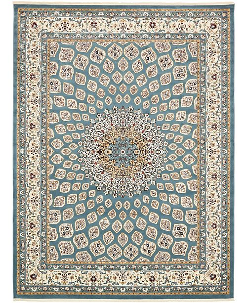 Bridgeport Home Zara Zar1 Blue 10' x 13' Area Rug