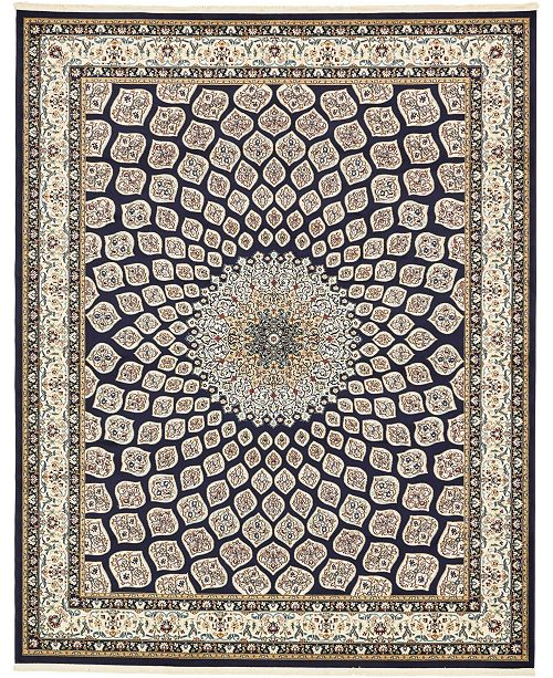 Bridgeport Home Zara Zar1 Navy Blue 8' x 10' Area Rug
