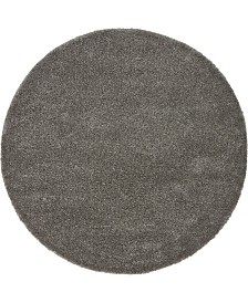 Bridgeport Home Uno Uno1 Gray 6' x 6' Round Area Rug