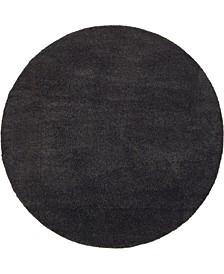 Uno Uno1 Charcoal 8' x 8' Round Area Rug