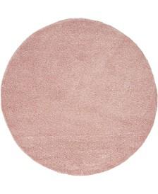 Uno Uno1 Pink 6' x 6' Round Area Rug