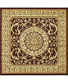 Belvoir Blv2 Brown 8' x 8' Square Area Rug