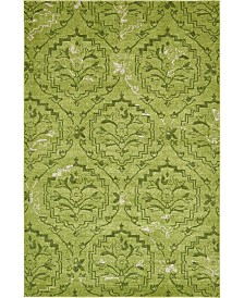 Bridgeport Home Felipe Fel1 Green 6' x 9' Area Rug