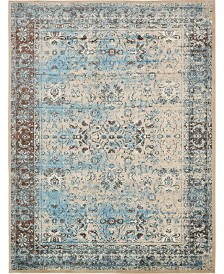 Bridgeport Home Linport Lin1 Ivory/Turquoise 10' x 13' Area Rug