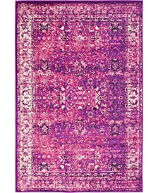 Linport Lin1 Lilac 4' x 6' Area Rug