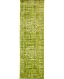 """Linport Lin5 Light Green 3' x 9' 10"""" Runner Area Rug"""