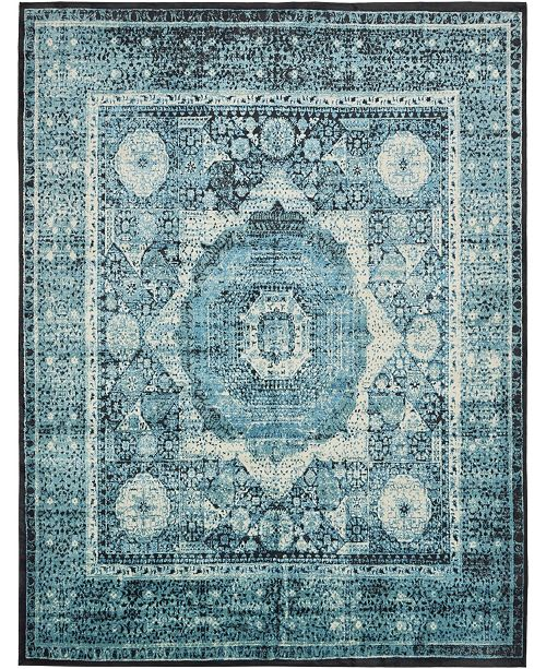 "Bridgeport Home Linport Lin7 Turquoise 13' x 19' 8"" Area Rug"