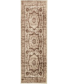 "Bridgeport Home Linport Lin7 Brown 3' x 9' 10"" Runner Area Rug"
