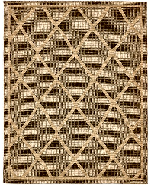 Bridgeport Home Pashio Pas7 Brown 9' x 12' Area Rug