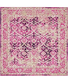 Bridgeport Home Reese Ree4 Pink 6' x 6' Square Area Rug