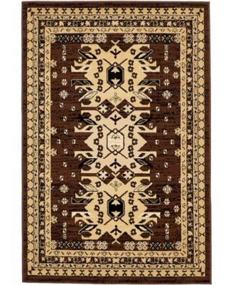 Charvi Chr1 Brown 7' x 10' Area Rug
