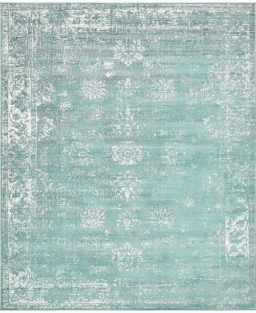 Bridgeport Home Basha Bas1 Turquoise 8' x 10' Area Rug