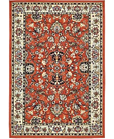 Bridgeport Home Arnav Arn1 Terracotta 4' x 6' Area Rug