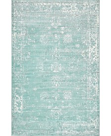 Bridgeport Home Basha Bas1 Turquoise 5' x 8' Area Rug