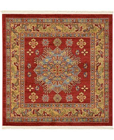 Bridgeport Home Harik Har1 Red 4' x 4' Square Area Rug