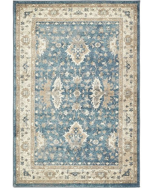 Bridgeport Home Bellmere Bel5 Light Blue 4' x 6' Area Rug