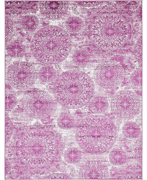 Bridgeport Home Basha Bas7 Purple 9' x 12' Area Rug