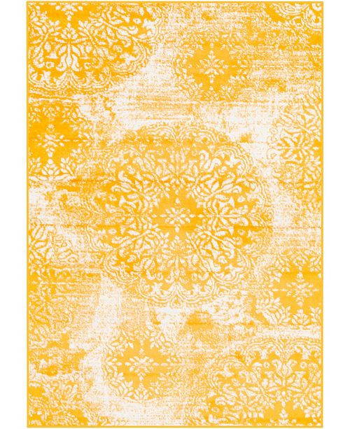 Bridgeport Home Basha Bas7 Yellow 4' x 6' Area Rug