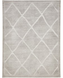 Bridgeport Home Filigree Shag Fil1 Gray 9' x 12' Area Rug