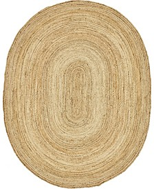 Braided Jute C Bjc5 Natural 8' x 10' Oval Area Rug