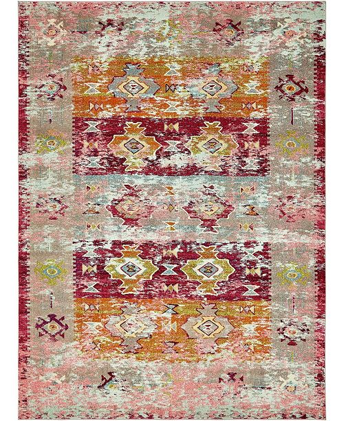 Bridgeport Home Newhedge Nhg3 Pink 9' x 12' Area Rug