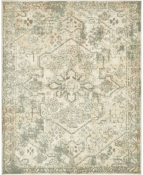 Bridgeport Home Tabert Tab6 Ivory 8' x 10' Area Rug