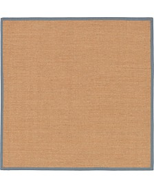 Bridgeport Home Bound Sisal Bds1 Light Brown/Gray 8' x 8' Square Area Rug