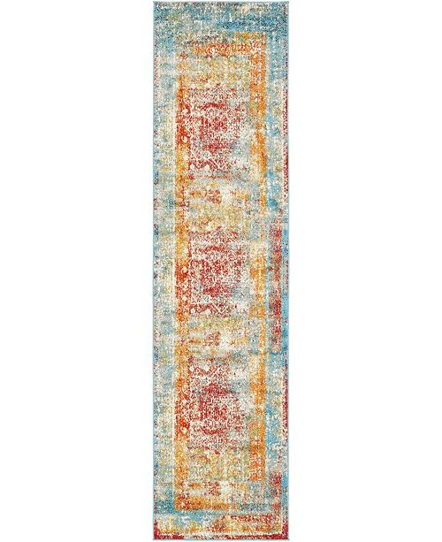 "Bridgeport Home Mishti Mis1 Multi 2' 7"" x 10' Runner Area Rug"