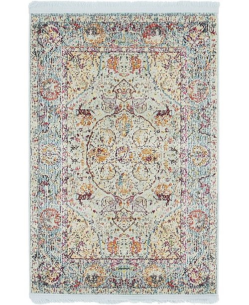 "Bridgeport Home Kenna Ken1 Light Blue 2' 2"" x 3' Area Rug"
