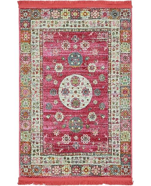 "Bridgeport Home Kenna Ken2 Pink 2' 2"" x 3' Area Rug"