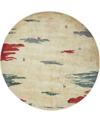 """Tempe Tmp8 Ivory 5' 5"""" x 5' 5"""" Round Area Rug"""