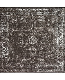 Basha Bas1 Brown 8' x 8' Square Area Rug