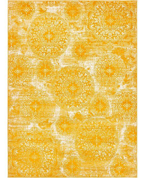 Bridgeport Home Basha Bas7 Yellow 8' x 11' Area Rug
