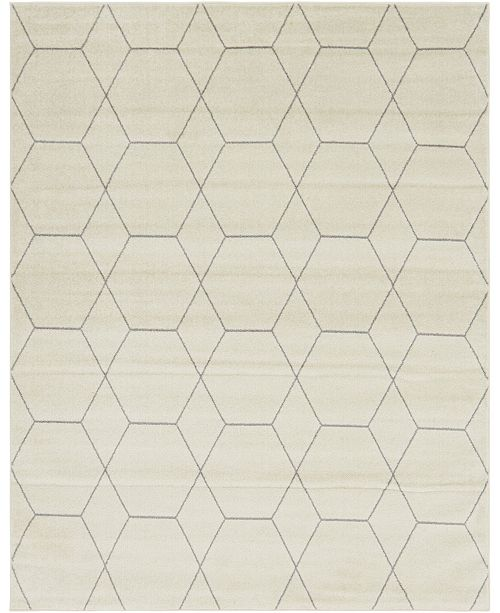 Bridgeport Home Plexity Plx1 Ivory 8' x 10' Area Rug