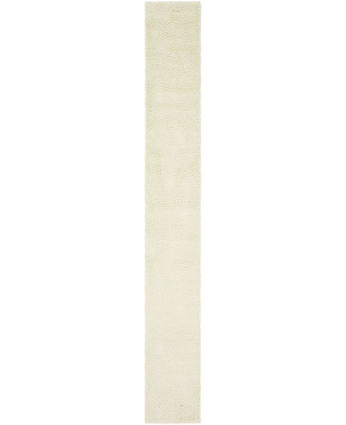 "Bridgeport Home Exact Shag Exs1 Pure Ivory 2' 6"" x 19' 8"" Runner Area Rug"