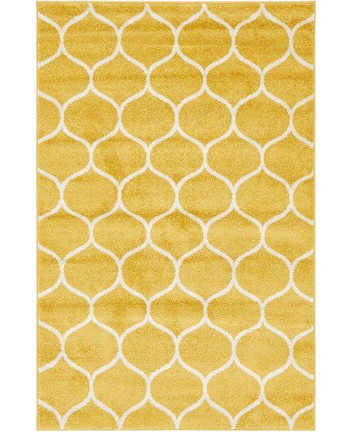 Bridgeport Home Plexity Plx2 Yellow 4' x 6' Area Rug