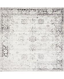 Basha Bas1 Gray 8' x 8' Square Area Rug