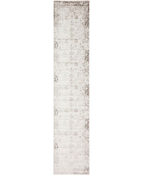 "Bridgeport Home Basha Bas1 Beige 3' 3"" x 19' 8"" Runner Area Rug"