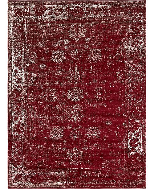 Bridgeport Home Basha Bas1 Burgundy 8' x 11' Area Rug