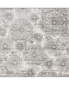 Bridgeport Home Basha Bas7 Gray 8' x 8' Square Area Rug