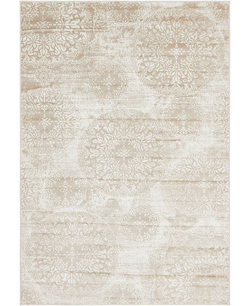 Bridgeport Home Basha Bas7 Beige 6' x 9' Area Rug