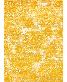 Bridgeport Home Basha Bas7 Yellow 7' x 10' Area Rug