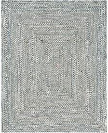 Roari Cotton Braids Rcb1 Gray 8' x 10' Area Rug