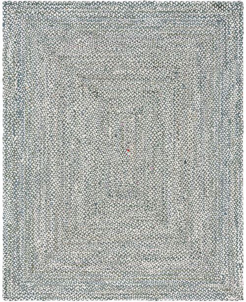 Bridgeport Home Roari Cotton Braids Rcb1 Gray 8' x 10' Area Rug
