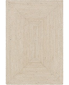 Roari Cotton Braids Rcb1 Ivory 6' x 9' Area Rug
