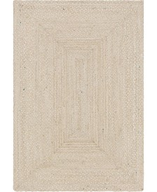 Bridgeport Home Roari Cotton Braids Rcb1 Ivory 6' x 9' Area Rug