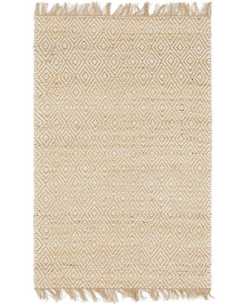 Bridgeport Home Braided Tones Brt3 Natural/White 4' x 6' Area Rug