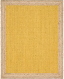 Braided Jute A Bja4 Yellow 8' x 10' Area Rug